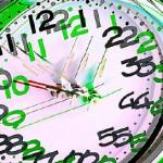 Double image of clock uid 1460723